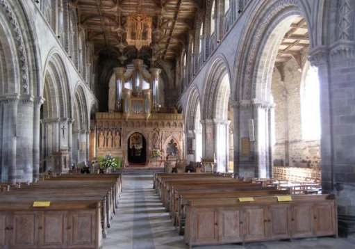 Tick tock. Have a spiritual experience. St David's Cathedral, Pembrokeshire.