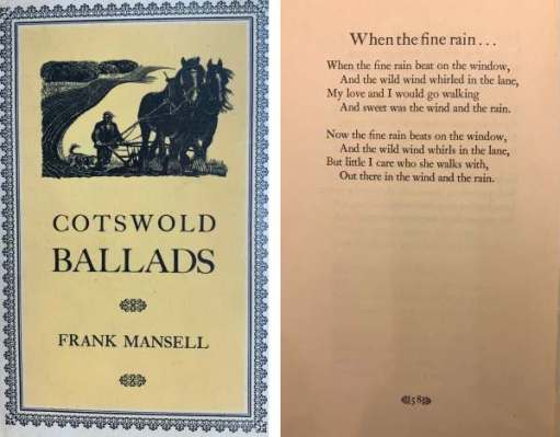 Tick tock. Read a Frank Mansell poem.