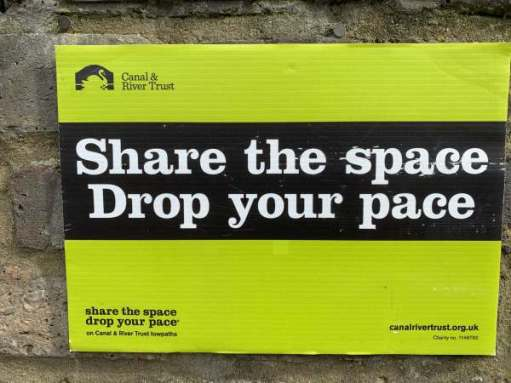 Tick tock. Share the space. Drop your pace.