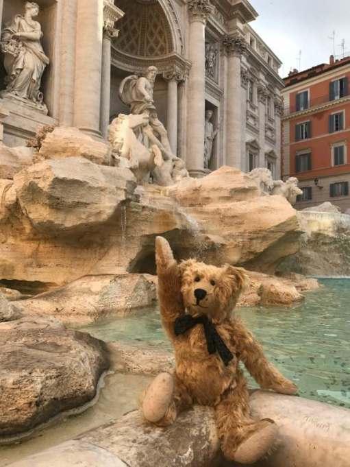 April in Paris: One coin in the fountain. Fontana Di Trevi, Rome.