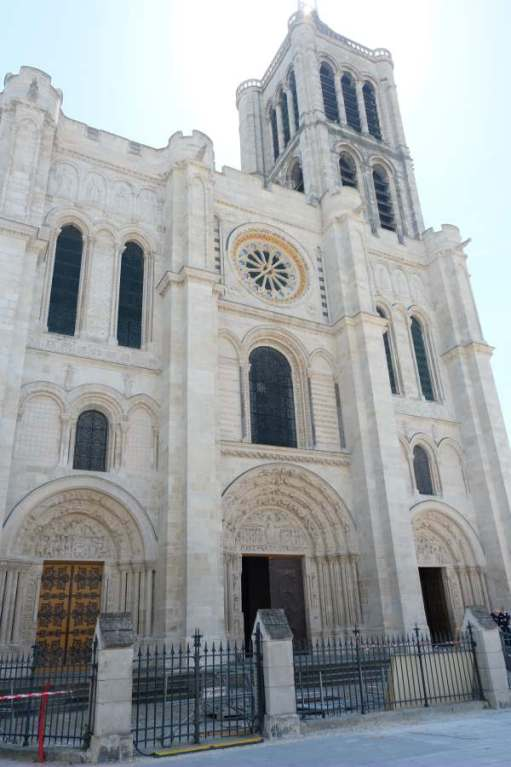 April in Paris: Exterior of the Basilica of Saint-Denis.