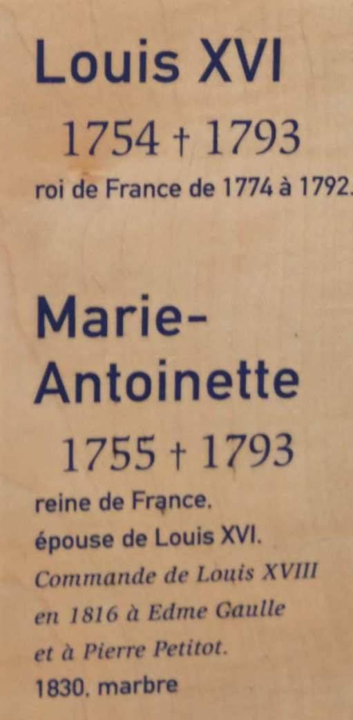 April in Paris: Gravestone of Marie-Antoinette in the Basilica of Saint-Denis.