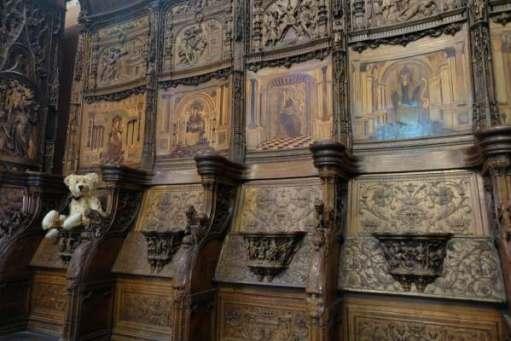 April in Paris: Ornate seating in the Basilica of Saint-Denis.