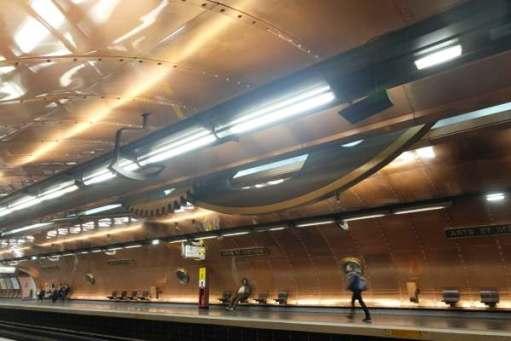 April in Paris: Arts et Métiers Metro Station..