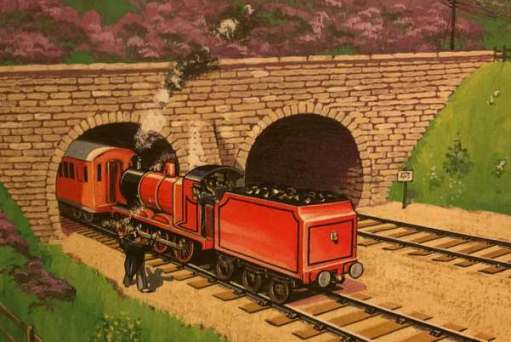 Trying to push him out with James, the Red Engine.