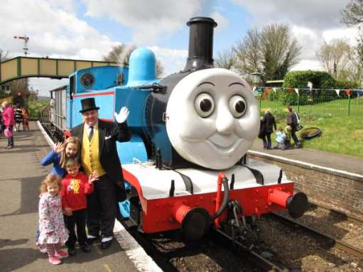 They are a bit bigger now (the children). Kyla, Sonny, Layla, the Fat Controller and Thomas. 2012.