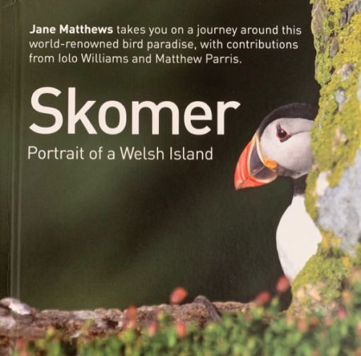 The front cover of a book on Skomer.