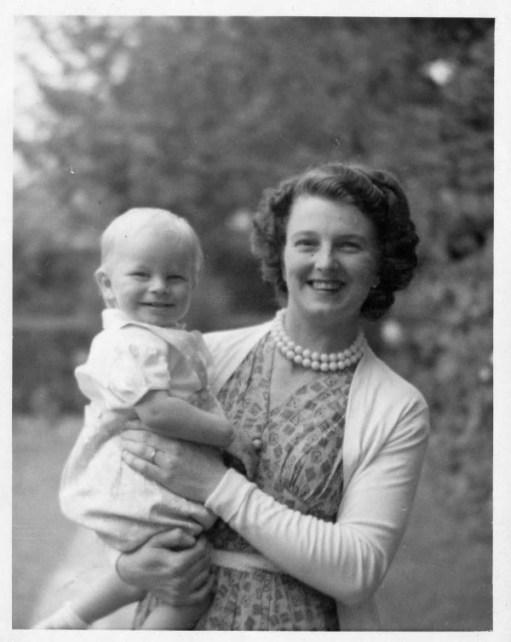 Mum Doris holding the author (Bernard) when a baby.