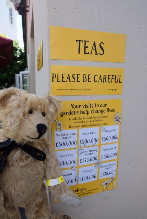 Bertie at the entrance to the Tea Garden.