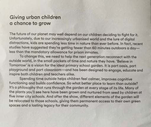 Poster: Giving Urban Children a chance to grow.