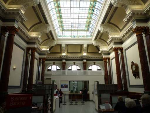Inside the former Preston Bank (now HSBC), Southport.