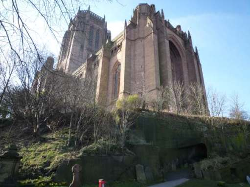 Liverpool's Anglican Cathedral. Largest in the UK. Fifth largest in the world.