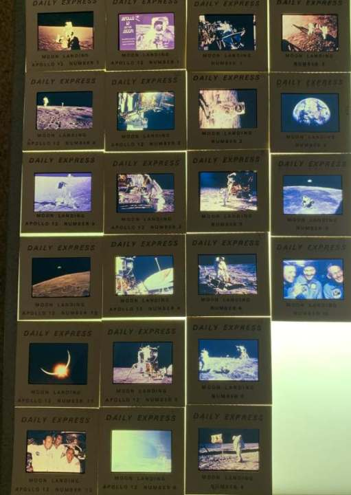 Daily Express Slides of the Moon Landing.