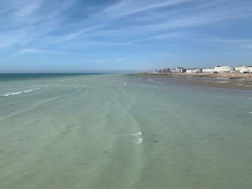 View from the west side of Worthing Pier.