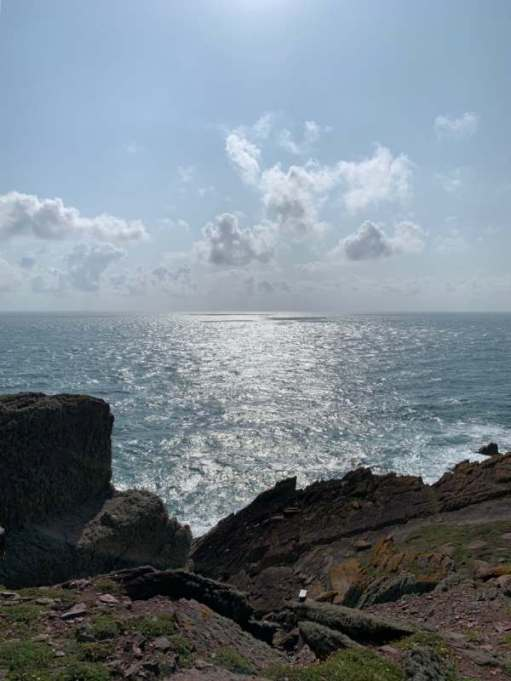 View across the sea from Skokholm.