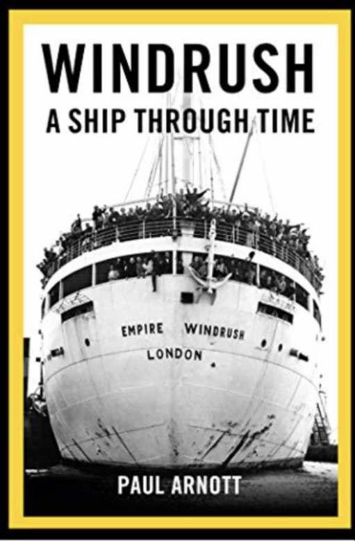 Book Cover; Windrush. A ship through time.