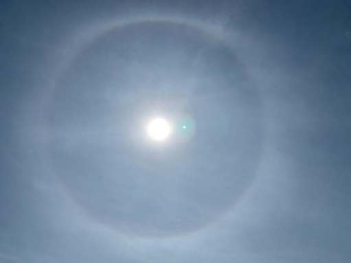 "We even saw a ""halo""."