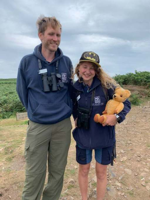 The new wardens of Skomer Island. Sylwia and Nathan.