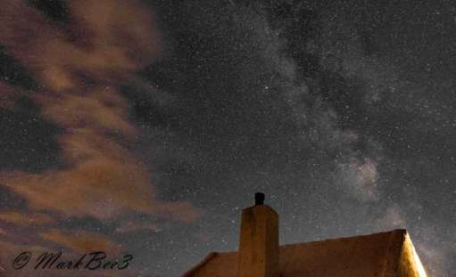 Lockley Cottage and the Milky Way to the right.