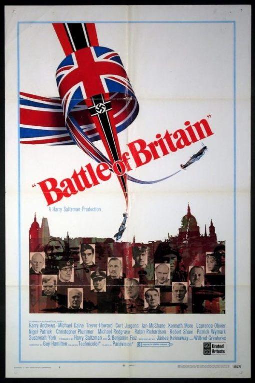 Poster for the Battle of Britain Film, 1969.