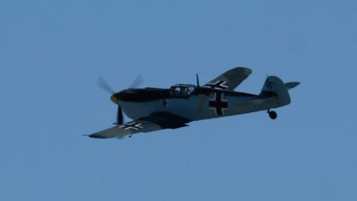 Messerschmitt 109 Buchón flying at Duxford 2019.