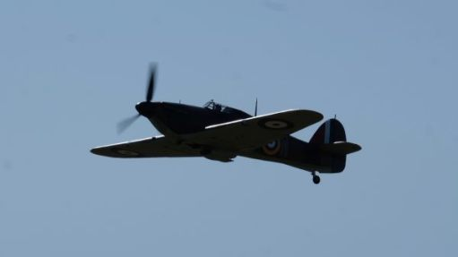 Hurricane flying at Duxford 2019.