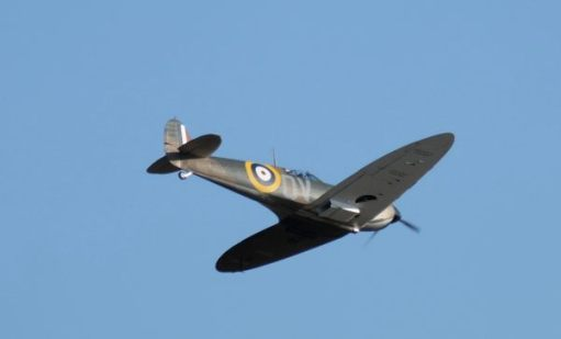 Spitfire flying at Duxford 2019.