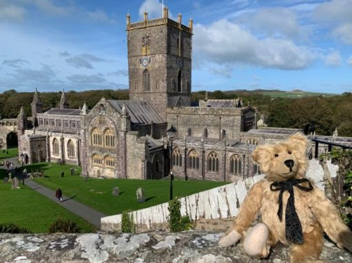 St Davids Cathedral. The heart of religion in Wales. Home to music. Bertie in pride of place in the bottom right-hand corner, of course!