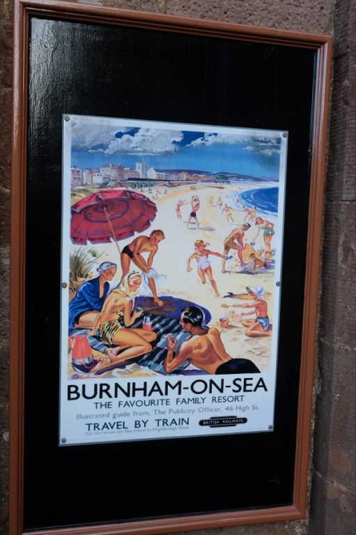 West Somerset Railway - Historic Poster for trains to Burnham-on-Sea.