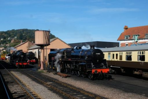 West Somerset Railway - Minehead locomotive yard.