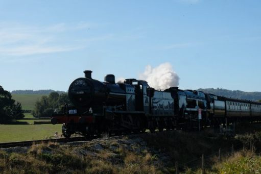 West Somerset Railway - The Pines Express Double Header with 53808 leading.
