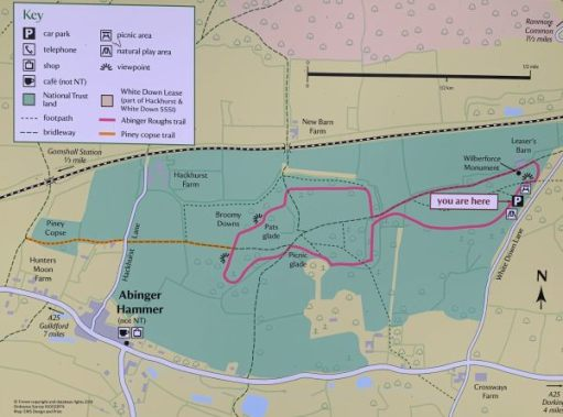 Map of Abinger Roughs.