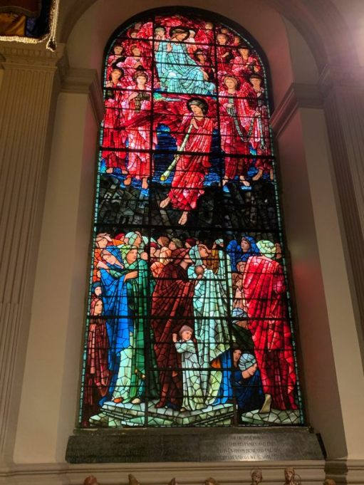 A beautiful stained glass window in St Philip's Cathedral, Birmingham.
