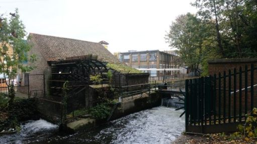 A view of Merton Abbey Mills.