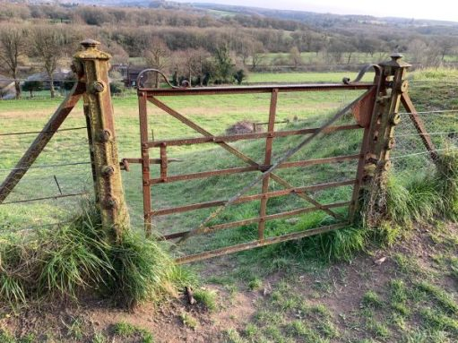 Cast iron gate still in use on the original 1860 fencing.