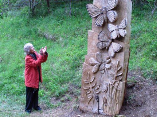 Actress Virginia McKenna unveiled the sculpture in 2015.