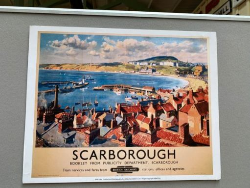 Front cover of an old British Railways booklet advertising Scarborough.