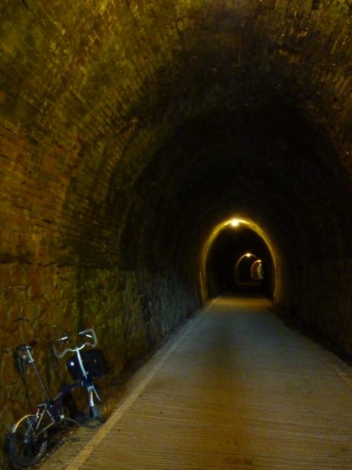 May 2011. Tarka Trail Devon. Disused railway tunnel, heading towards Bideford.