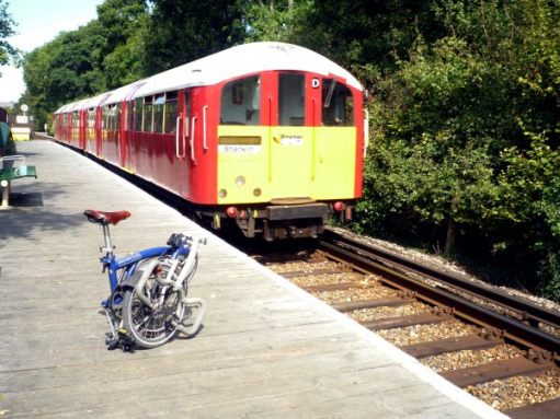 September 2011. Island Railway using (and still in 2020) ancient London Underground stock between Ryde and Shanklin on the Isle of Wight.