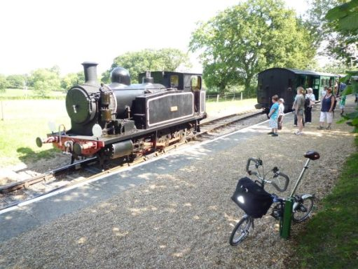 September 2011. Haven Street heritage steam railway at Wootton, Isle of Wight.