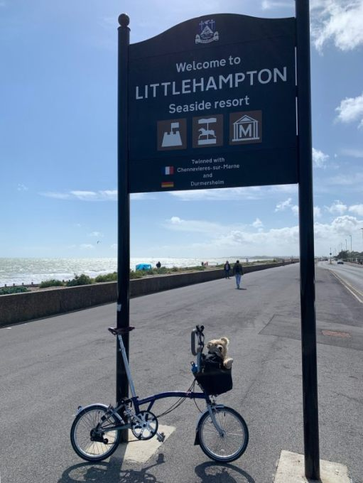 July 2020. Littlehampton on a very blustery day.
