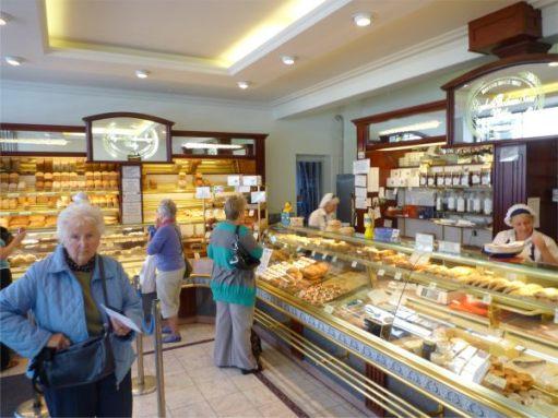 E Botham & Sons. Bakers. Whitby. Interior.