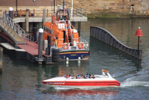 """""""Velocity"""" with Whitby Lifeboat."""