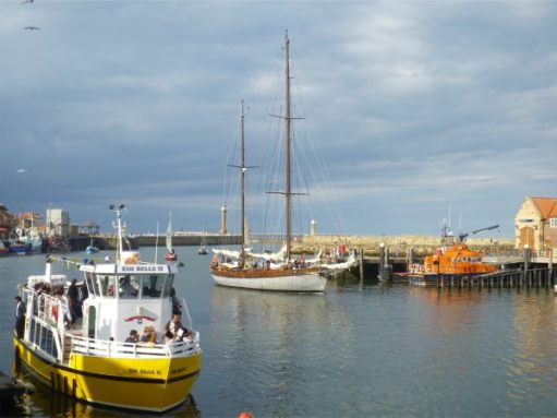 """The famous yellow boat. The """"Esk Belle II""""."""