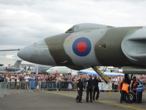 Best Movie - The Spirit of Great Britain. Farnborough Airshow. The last Vulcan flying.