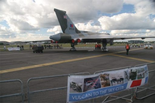 The Vulcan waiting its turn at Farnborough.