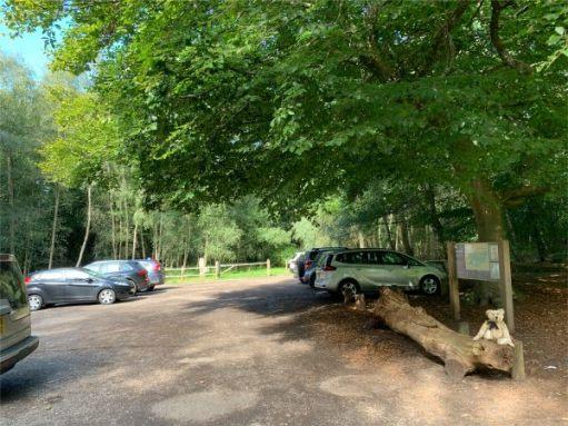 Abinger Roughs National Trust Car Park.