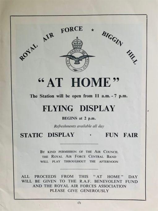 """Royal Air Force Biggin Hill """"AT HOME"""" FLYING DISPLAY."""