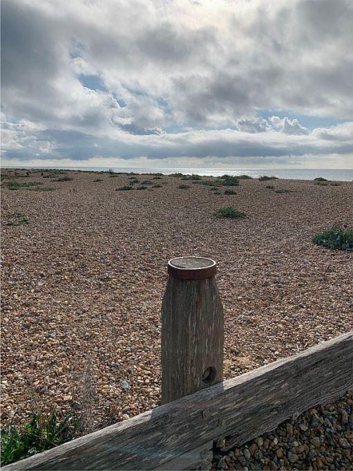 High tide at Ferring.