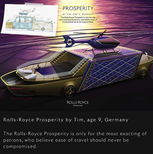 "Rolls-Royce ""Prosperity"" by Tim, age 9, Germany."
